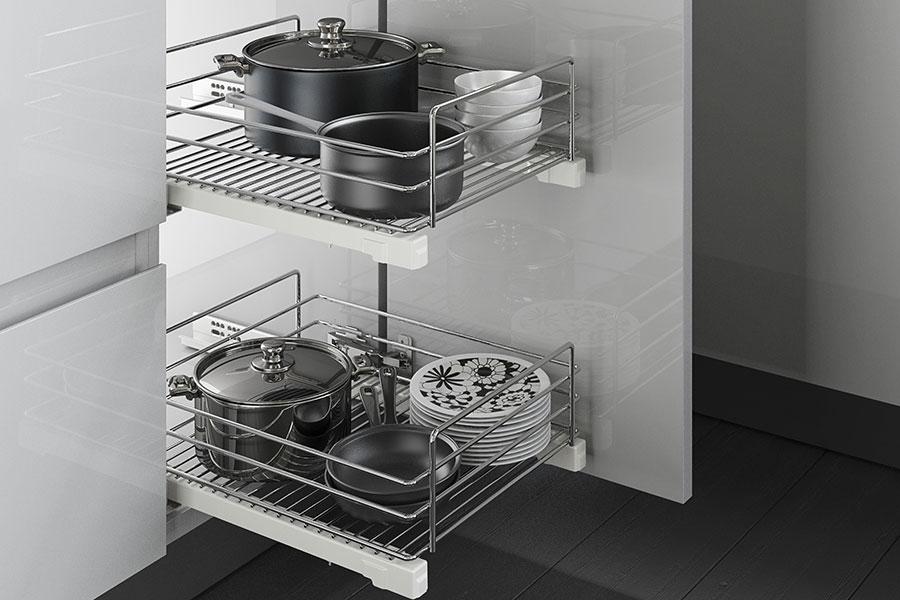 выдвижная сетка для кухни