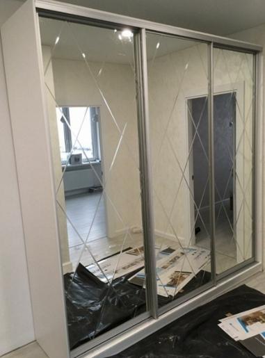 шкаф-купе зеркальные двери