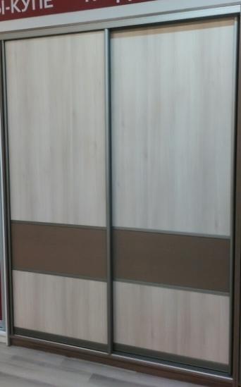 Шкаф-купе 2-х створчатый Дуб Харбор со вставками