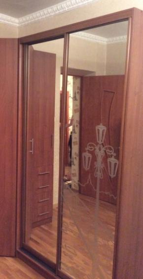 Шкаф-купе 2-х створчатый Яблоня Локарно пескоструй Фонарь