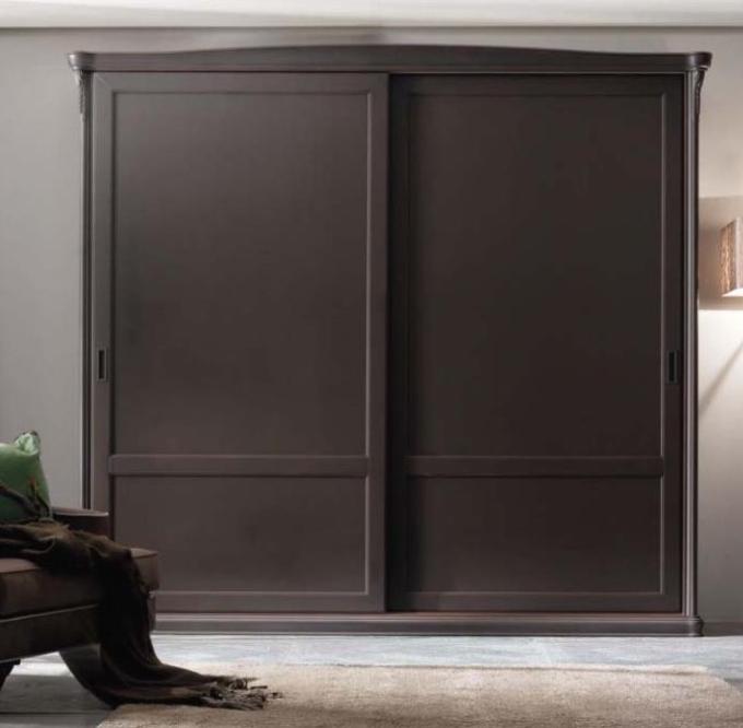 Шкаф-купе 2 двери из массива Темный дуб с карнизом